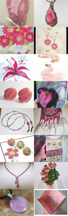Pink Wednesday !!! by SandyCasp on Etsy--Pinned with TreasuryPin.com