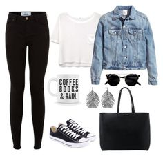 """Untitled #28"" by ritagibellino on Polyvore featuring Converse, MANGO, H&M and Alex Monroe"