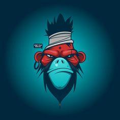 Vectorial Wallpaper Wallpapers) – Wallpapers and Backgrounds Graffiti Designs, Art And Illustration, Illustrations, Pop Art, Monkey Art, Graffiti Characters, Mascot Design, The Villain, Vector Art