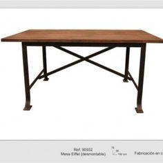 ref.02890932 Mesa comedor industrial (metal-madera)