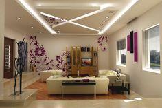 Ideen zur deckengestaltung beleuchtung wohnzimmer