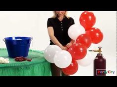 Have you seen our video on how to make a balloon arch for your party? It's the perfect welcome to a carnival bash! – - New Site Balloon Columns, Balloon Arch, Air Balloon, Balloon Centerpieces, Balloon Decorations, Wedding Decorations, Grad Parties, Birthday Parties, 80th Birthday