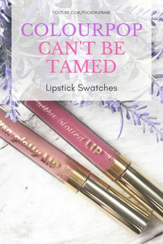 Colourpop Can't Be Tamed Lip Duo - Puckerupbabe Pink Lipstick Shades, Best Pink Lipstick, Bright Pink Lipsticks, Colourpop Ultra Glossy Lip, Lipstick Swatches, Cruelty Free, Blogging, Cosmetics, Beauty