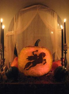 Love this Sleepy Hollow themed party from HGTV's Halloween Block Party 2009