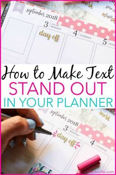 Click for a quick and easy tutorial for How to Make Text Stand Out in Your Planner. This is a super simple way you can add embellishment to text - whether you did your own script or used a sticker like me. Even if you cant draw, you can do this easy planner decoration idea. Great for beginners. #planner #planning #erincondren #plannerdecorations #plannerideas