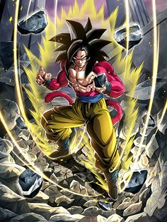 'Goku Super Saiyan by MusashiM Super Saiyan 4 Goku, Super Goku, Dragon Ball Gt, Dragon Ball Z Shirt, Foto Do Goku, Majin, Animes Wallpapers, Goku 4, Dbz Vegeta