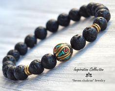 Chakra Jewelry, Chakra Bracelet, Yoga Jewelry, Gemstone Jewelry, Men's Jewelry, Jewelry Ideas, Handmade Jewelry, Jewelry Making, Jewellery