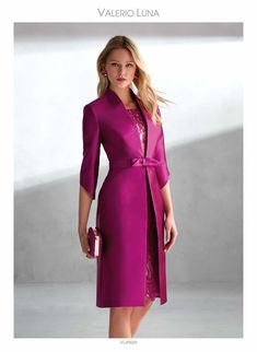 Godmother and party dresses - Valerio Luna Cute Dresses, Dresses For Work, Fashion Beauty, Womens Fashion, Occasion Wear, Mother Of The Bride, Evening Dresses, Wrap Dress, Fashion Dresses