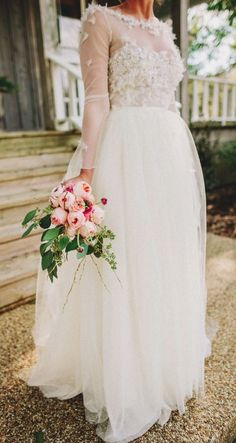 Featured Photographer: Two Pair Photography; Wedding dress idea.