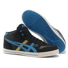 pretty nice d91c9 2c88c qjt0 Zapatillas Asics Aaron MT Hombre Entrenadores Negro Azul-Oro Kd Basketball  Shoes, Sports