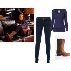 """2. Character Fashion - Elena Gilbert, The Vampire Diaries"" by dotdotdot2895 on Polyvore"