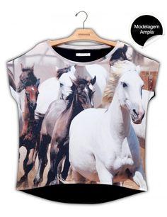 Blusa Premium Quadradasim Cavalo Selvagem #UseNatureza #JeffersonKulig
