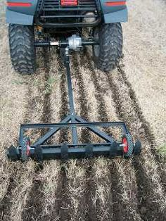 High Resolution Garden Plow For Atv Garden Tractor Attachments, Atv Attachments, Garden Tool Storage, Garden Tools, Quad, Food Plots For Deer, Homemade Trailer, Atv Trailers, Atv Accessories