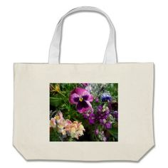Pansy and Friends Bag. Pansy, snapdragon and stock Make beautiful color on any bag. great gift for mom or gardeners. or just someone who enjoys the beauty of flowers.  15 sold to date.