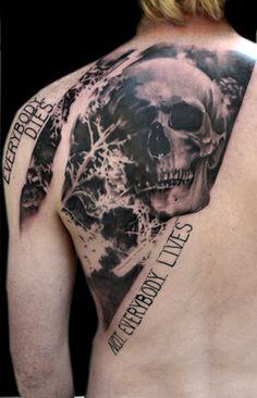 Volko Merschky - Amazing tattoo !!! O__O Ultra realistic skull