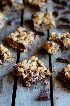 Cooking Recipes: Healthy Dark Chocolate Chunk Oatmeal Cookie Bars