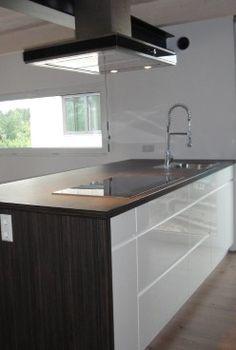 Ansprechende, funktionale Wohnküche - Küchenarbeitsblock