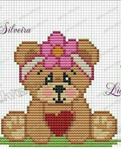 Free Cross Stitch Charts, Cross Stitch Baby, Counted Cross Stitch Patterns, Cross Stitch Designs, Bear Blanket, Paper Quilt, Butterfly Cross Stitch, Cross Stitch Boards, Crochet Leaves