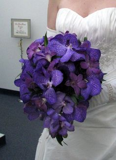 wow - i know no purple for you - but great in white too Love this! Orchids in different shades of purple