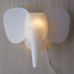 Elephant Zzzoolight Wall Sconce - the only thing i dont like about this is the cable... but gorgeous!!