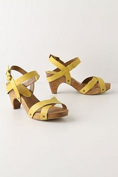 Yellow sandals.  Anthropologie.    Need these for Mexico!