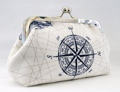 Nautical Design Framed Clutch Purse. by TheHeartLabel on Etsy, £21.20...I need this so much!