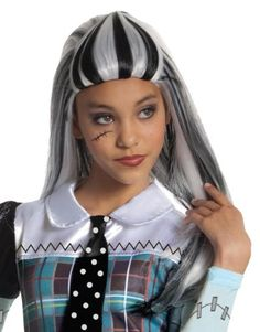 Kids' Costume Wigs - Monster High Frankie Stein Girls Wig >>> Find out more about the great product at the image link.