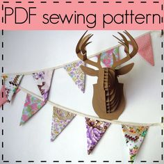 Flag bunting sewing pattern, step by step photos and detailed instructions - D.I.Y Weekend project little-d-i-y-projects