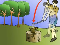 how to chop wood: 6 steps