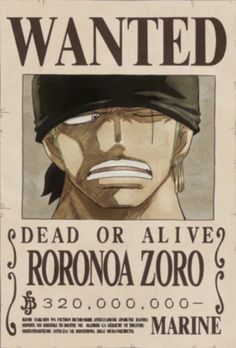 Zoro's latest wanted poster after the Dressrosa Arc
