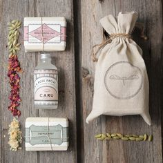 Mother's Day Soap + Toner Gift Set, (1) Facial toner and (2) 4.5oz handmade all natural organic soap bars, wrapped in seed paper
