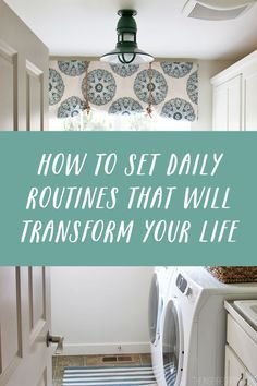 How to Set Daily Routines that will Transform Your Life - The Inspired Room