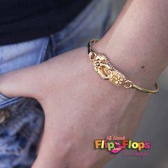 Flip Flop Bangle Gold – All About Flip Flops