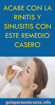 Las Mejores 8 Ideas De Rinitis Alérgica Rinitis Alérgica Alergica Remedios Caseros