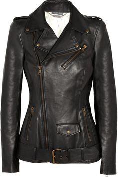 Alexander Mcqueen Leather Jacket in Black