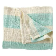 "Keep • ""Aqua striped throw blanket"" kept into Sweet Dreaming by cydconverse"