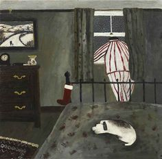 Gary Bunt | My Stocking - He keeps looking out of the window At the snow that's getting deep Santa will not fill my stocking up If we don't get off to sleep