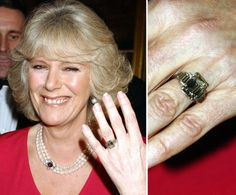 Pin for Later: The Very Best Celebrity Engagement Rings Camilla Parker-Bowles Prince Charles proposed to Camila Parker-Bowles in February 2005 with a large diamond and platinum heirloom belonging to the royal family.