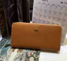 Spring Summer 2015 Mulberry Collection Outlet-Mulberry Tree Zip Around Wallet Oak Grainy Leather