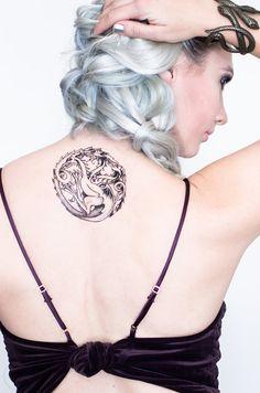 Targaryen Sigil Temporary Tattoo by SeventhSkin on Etsy