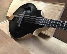 Dubova Custom Guitar: SG-Style Electric Guitar. | Etsy Guitar Prices, Sound Samples, Custom Guitars, Red Cedar, Mandolin, Electric Guitars, Solid Black, Acoustic, Etsy