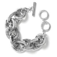 Banana Republic Glimmer Glamour Link Bracelet - Silver