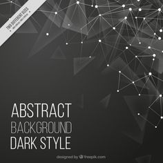 Poligonal background with lines and dots Free Vector
