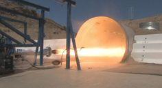 Dream Chaser's hybrid rocket motor fires at SNC Propulsion Facility, Poway, Calif.
