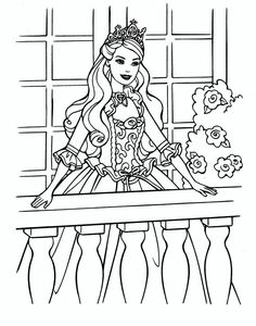 Princess Barbie Coloring Pages Sheet To Print
