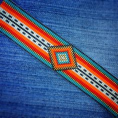 "80 Likes, 3 Comments - Michelle Constantinescu (@puebloandco) on Instagram: ""Serape beaded cuff bracelet. #beadedcuff #beadedbracelets #beadloom #serape #mexican #wristparty…"""