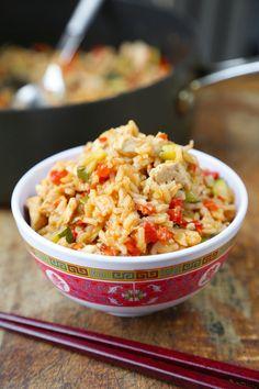 One Pan Szechuan Chicken Fried Rice