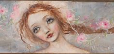 original portrait angel saint roses old fashion blue by fadedwest, new beginnings........