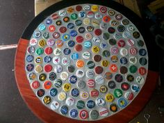 1000 Images About Beer Cap Table And Coaster Ideas On