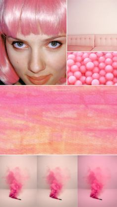LOVING the smoke bomb thing-the color bombs from my childhood. Would be cool to capture the ethereal shape taking hold in interesting color combos. Rose Colored Glasses, My Unique Style, Everything Pink, Rainbow Hair, Pink Candy, Photo Backgrounds, Branding, Colorful Fashion, Graphic